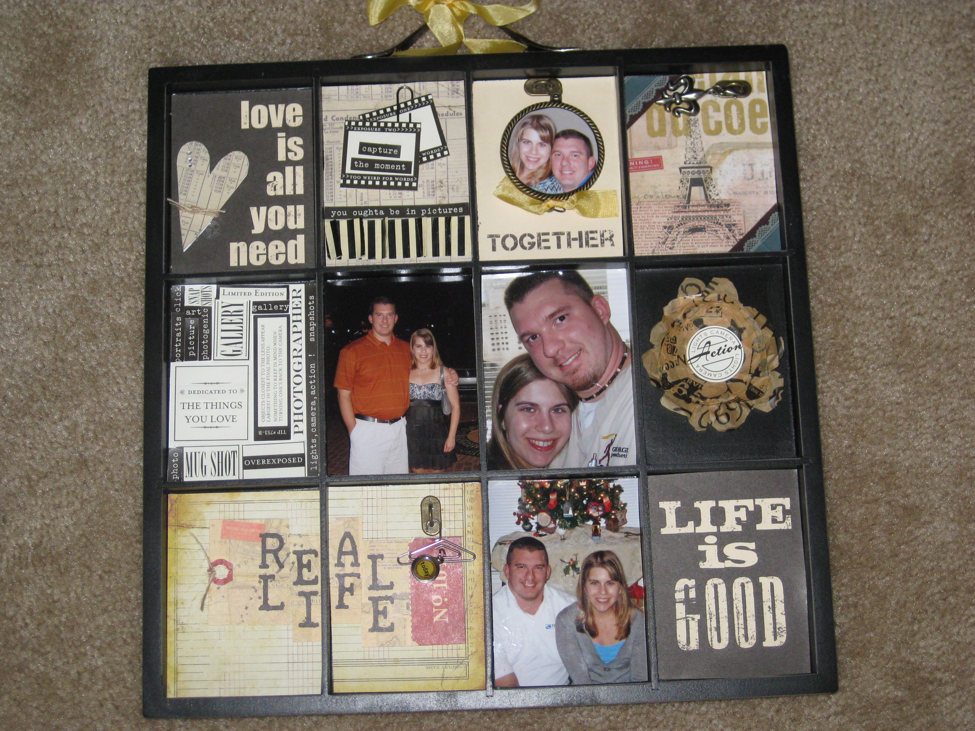 Scrapbook ideas words - I Made This Scrapbook Tray Project In 2 Hours It Was A Kit With Step By Step Instructions I Used Some Of My Own Ideas As Well