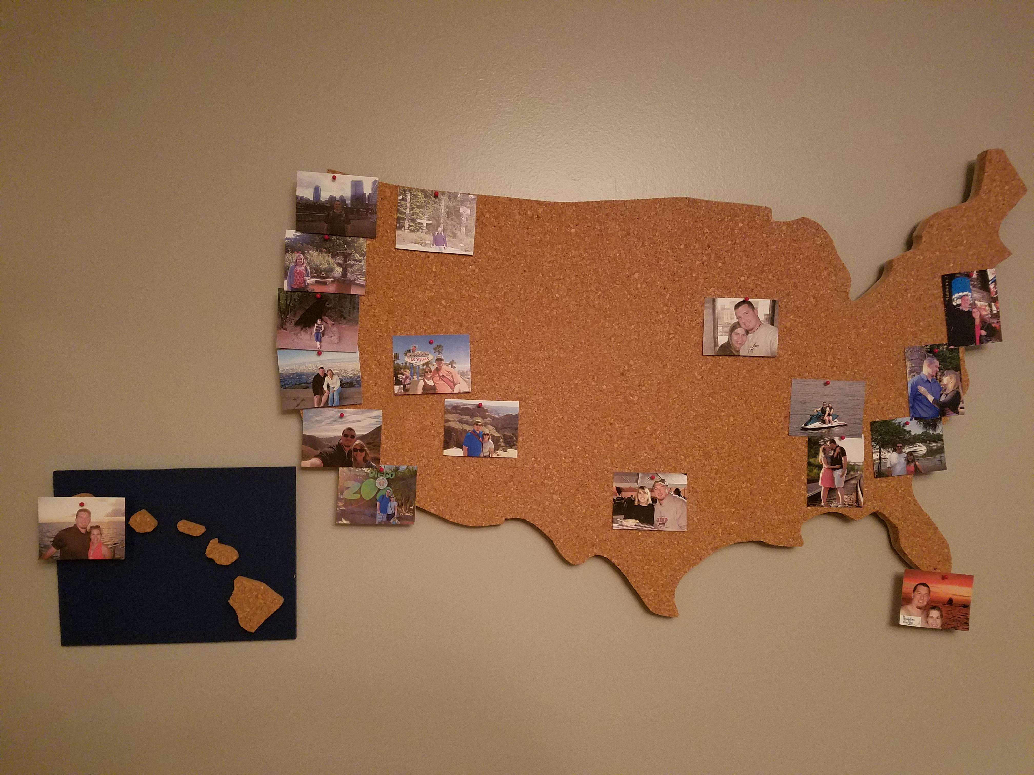 Diy Cork Board Map Of United States Piecesofapriljournalistblog